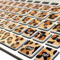 Kidecals Leopard Print Keycals #leopard #sticker #decal #gadgets