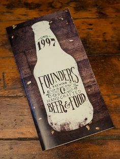Founders Brewing Co. Menu Scott Schermer #design #graphic #quality
