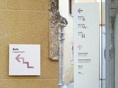 Vinseum Signage #feijo #diego #white #wine #estudio #minimal #signage #watercolour