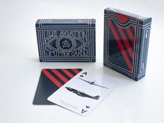 #playingcards #cards #WWII #aviation #airplanes #planes #illustration #lettering