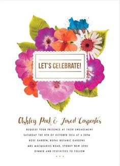 Spring Collection - Engagement Invitations #paperlust #weddinginvitation #weddinginspiration #weddingstationery #engagement #engagementinvi