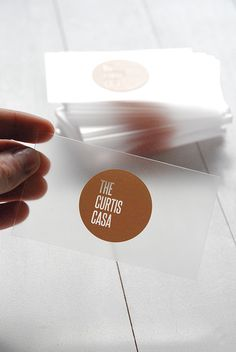 Acrylic Business Cards | the curtis casa