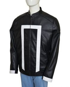TV Series Agents Of Shield Ghost Rider Black Leather Jacket