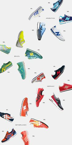 World Cup inspired style, World Cup sneakers, World Cup semifinalists, Brazil, Argentina, Germany, Netherlands, football, soccer, Nike, Adid