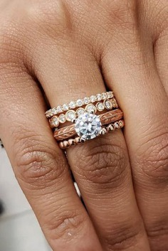 ridal sets should have a perfect look. Once you're presented with an engagement ring, it's time to start thinking about wedding bands. Its very important to know, how two rings will look together.