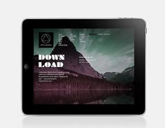 Website / A Mountain Of One on the Behance Network #ipad #web #typography