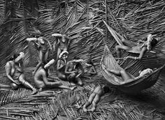 Women in the Zo'é Village of Towari Ypy Color Their Bodies With the Red Fruit of the Urucum, Pará, Brazil, 2009, Sebastião Salgado #pho