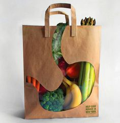 Designersgotoheaven.com Dahee Song and Manuel Aleman for City Harvest. #bag #stomach #advertising