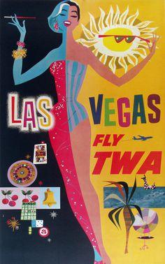 http://vepca.files.wordpress.com/2011/06/twa las vegas.jpg #flight #airplane #travel #illustration #fly #poster #vegas