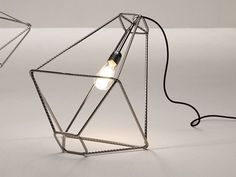 Steel Table Lamp by Sara Bernardi
