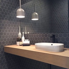 Modern Grey Hexagon Tile