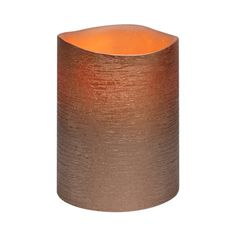 Rose Gold Distressed Textured Wax LED Flameless Candle, 8 x 10 cm