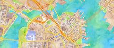 It's Nice That : Stamen's watercolour maps are things of great beauty - now there's a print version #city #watercolor #map