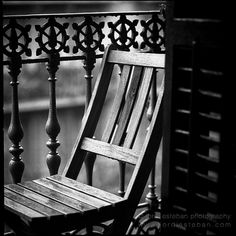 Solitude generates the beauty | Flickr: Intercambio de fotos #white #chair #black #jordi #esteban #photography #rain #and