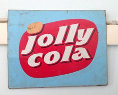 Jolly Cola #logotype #red #jolly #sign #danish #denmark #sodapop #and #blue #soda #cola