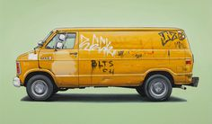 kevin_cyr #kevin cyr #vehicles #oil painting