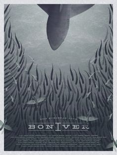 bon_iver_small #ocean #iver #whale #bon #fish #shark #blue