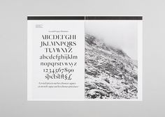 MAAD / Type we just made #mountain #swiss #specimen #picture #type #typography