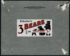 All sizes | Schutter-Johnson Candy - 3 Bears - 5-cent candy bar wrapper - 1930\'s | Flickr - Photo Sharing!