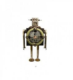 Robots - Wall to Watch #model #sculpture #robot #vintage #fan