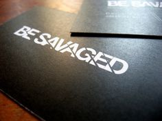 Be Savaged Branding Development #savaged #business #card #print #be