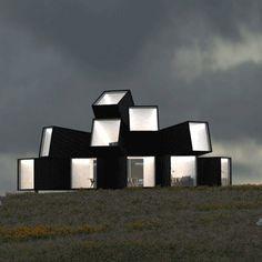 Hechingen Studio across the Landscape by Whitaker Studio #prefab