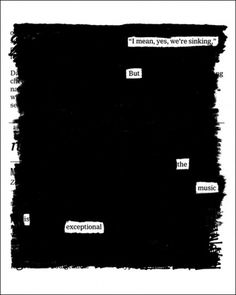 20x200 - Print Information | Overheard on the Titanic, by Austin Kleon #times #print #quotes #posters #york #poems #new