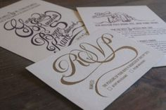 Gina & Bryan's Wedding Invites - Katie Steward's Portfolio #wedding #script #design #drawn #invites #type #hand