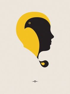 Chemtrail - Paul Tebbott #illustration #yellow #face #minimalistic