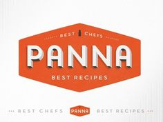 Dribbble - Panna app logo by kellianderson #recipes #orange #panna #food #logo