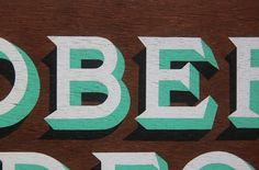 Archie McLeish | ▲ Graphics / Design / Illustration / Painting / & Beyond #sign #wood #painted