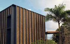 Bamboo House in Rural Brazil by Vilela Florez