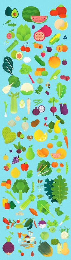 Produce_500px #vector #fruit #vegetables #illustration #produce