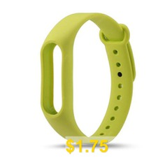 Colorful #Silicone #Wrist #Strap #Bracelet #Replacement #Watchband #for #Original #Miband #2 #Xiaomi #Mi #band #2 #Wristbands #- #GREEN