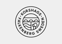 Logo design for Swedish seafood producer Korshags by Kurppa Hosk