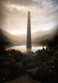 The Art Of Animation, Martin Bland #monument #height #landmark #digital #illustration #concept #art #tall #tower #obelisk