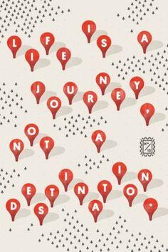 grain edit · Wander Postcard Project #travel #wander #illustration #pins #postcard #typography