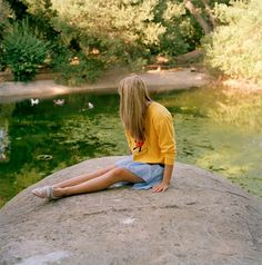 Portrait Photography by Ye Rin Mok   Art Sponge #sun #rin #girl #photography #portrait #summer #sitting #mok #ye