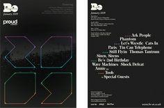 Work, Be Events – Jan 2009 — Sawdust #print #flyer