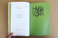 book inside, credits by Diego Pinzon at Coroflot #diego #pinzon #graphic #book #printing #layout #editorial