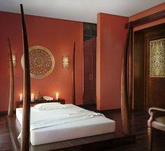 Bedroom with artistic asian decor #artistic #bedroom #decor #bedrooms #art #artiistic