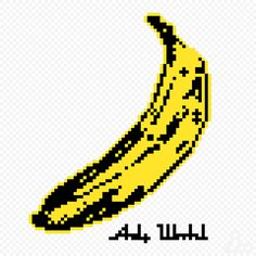 Jaebum joo pixel art illustration - Bannana Andy Warhol