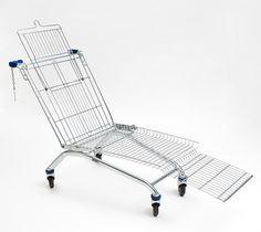 mike bouchet: shopping cart lounger #product #art