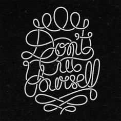 Don't Cut Yourself - Benny Arts #yourself #cut #lettering #dont #benny #arts #custom #hand