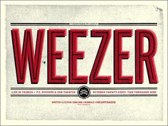 FFFFOUND! | GigPosters.com - Weezer #screenprint
