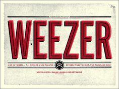 FFFFOUND! | GigPosters.com - Weezer #screenprint