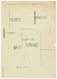 Ichiyanagi 16 #abstract #graphic #japanese #music score #fluxus