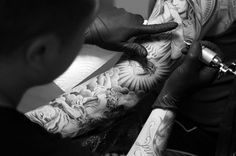 Image of Jun Cha and Jose Lopez London Pop Up Lowrider Tattoo Studio Recap #tattoo #ink #up #pop
