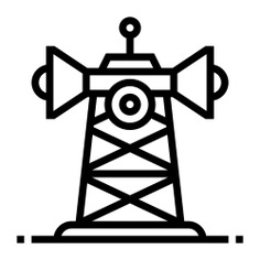 See more icon inspiration related to tower, communication tower, ui, network signal, frequency, telecommunication, telecommunications, communications, radar, signal and technology on Flaticon.