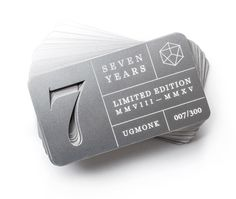 Ugmonk 7th Anniversary Metal Cards